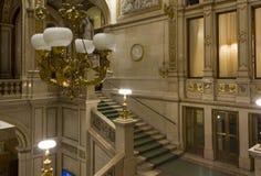 Uroczysty schody Wiedeń opera w Austria Zdjęcia Stock