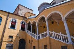 Uroczysty schody zaszczyt. Ferrara. emilia. Włochy. Zdjęcie Royalty Free