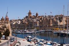 Uroczysty schronienia Marina, Malta Obraz Royalty Free