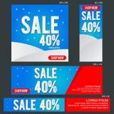 Uroczysty sprzedaż sztandaru szablon Fotografia Stock
