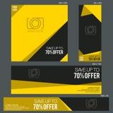 Uroczysty sprzedaż sztandaru szablon Zdjęcia Stock