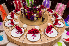 Uroczysty stołowy układ Obraz Royalty Free