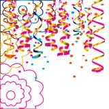 Uroczysty tło z confetti Obraz Stock