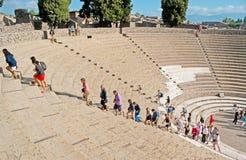 Uroczysty teatr Pompeii zdjęcie royalty free