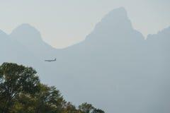 Uroczysty Teton samolot Zdjęcia Royalty Free