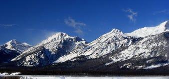 Uroczysty Tetons pasmo górskie w Uroczystym Tetons parku narodowym Zdjęcia Royalty Free