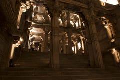 Uroczysty widok Adalaj kroka well Ahmedabad, Gujarat Obraz Royalty Free