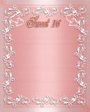 urodzin 16 zaproszenie sweet Zdjęcie Stock