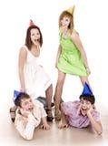 urodzin ludzie grupowi kapeluszowi Fotografia Stock