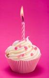 urodzinowa babeczka Fotografia Royalty Free