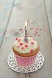 Urodzinowa babeczka Zdjęcia Stock