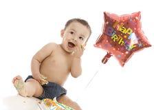 Urodzinowa chłopiec Obrazy Royalty Free