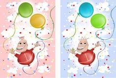 Urodzinowa chłopiec lub dziewczyna royalty ilustracja