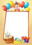 Urodzinowa dekoracyjna granica ilustracja wektor
