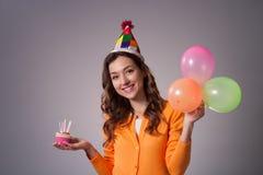 Urodzinowa dziewczyna Obraz Royalty Free