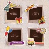 Urodzinowa fotografii rama Zdjęcia Stock