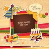 Urodzinowa fotografii rama Zdjęcia Royalty Free