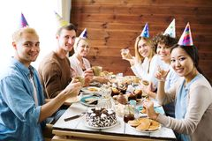 Urodzinowa herbata zdjęcia stock