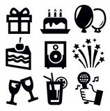Urodzinowa ikona Zdjęcie Royalty Free