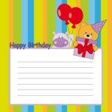 urodzinowa karta Zdjęcie Stock