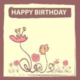 urodzinowa karta Ilustracja Wektor