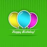 Urodzinowa karta Obrazy Stock