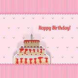 Urodzinowa karta Obraz Stock