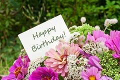 Urodzinowa karta Zdjęcia Stock