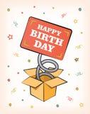 Urodzinowa karta Zdjęcie Royalty Free