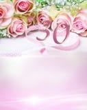 Urodzinowa karta z liczbą 30 Zdjęcia Royalty Free