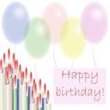 urodzinowa pocztówka Zdjęcia Royalty Free