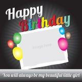 Urodzinowa projekt karta dla dzieciaków Zdjęcie Stock