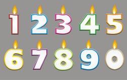 Urodzinowa świeczka z kolorowym konturem Fotografia Royalty Free
