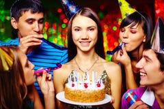 Urodzinowa zabawa zdjęcie royalty free