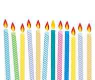 urodzinowe świeczki ilustracji