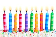 urodzinowe świeczki obraz royalty free