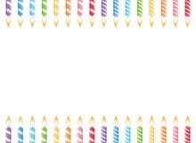 Urodzinowe świeczki ram wektor royalty ilustracja