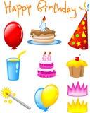 urodzinowe ikony Zdjęcia Stock