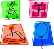 urodzinowe ikony Obraz Stock