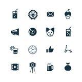 Urodzinowe ikony ustawiać Obraz Stock