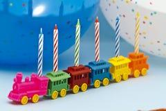 urodzinowe świeczki Fotografia Royalty Free