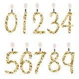 Urodzinowe świętowanie liczby błyskotliwości świeczki Obraz Royalty Free
