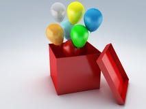 Urodzinowego prezenta pudełko 3d royalty ilustracja