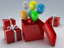 Urodzinowego prezenta pudełko 3d ilustracji