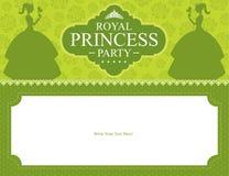 Urodzinowego Princess karciany projekt Royalty Ilustracja