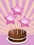 urodzinowego torta czekolada Zdjęcia Royalty Free