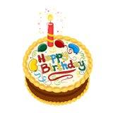 urodzinowego torta czekolada szczęśliwa ilustracja wektor