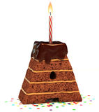 urodzinowego torta czekolady list kształtujący Obrazy Royalty Free