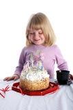 urodzinowego torta dziewczyna Zdjęcie Stock