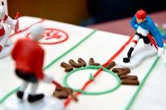 Urodzinowego torta Lodowy hokej Zdjęcie Royalty Free